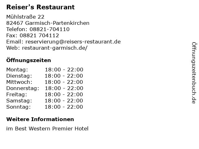 ᐅ Offnungszeiten Best Western Premier Hotel Obermuhle Reiser S