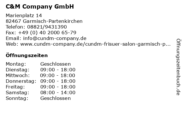 C&M Company GmbH in Garmisch-Partenkirchen: Adresse und Öffnungszeiten