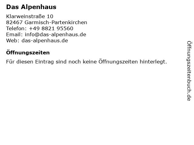 Haus Hamburg in Garmisch-Partenkirchen: Adresse und Öffnungszeiten