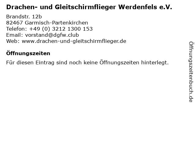 Drachen- und Gleitschirmflieger Werdenfels e.V. in Garmisch-Partenkirchen: Adresse und Öffnungszeiten