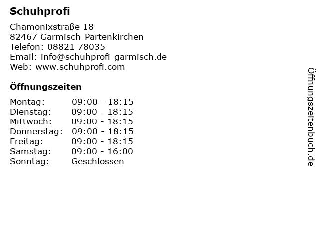 """ᐅ Öffnungszeiten """"Schuhprofi""""   Chamonixstraße 18 in Garmisch ... 541a92f8cc"""