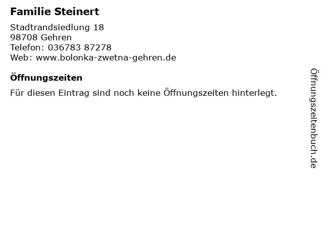 Familie Steinert in Gehren: Adresse und Öffnungszeiten