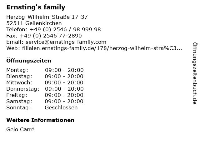 Ernstings family GmbH & Co. KG in Geilenkirchen: Adresse und Öffnungszeiten