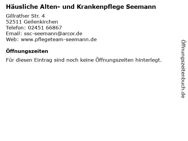 Häusliche Alten- und Krankenpflege Seemann in Geilenkirchen: Adresse und Öffnungszeiten