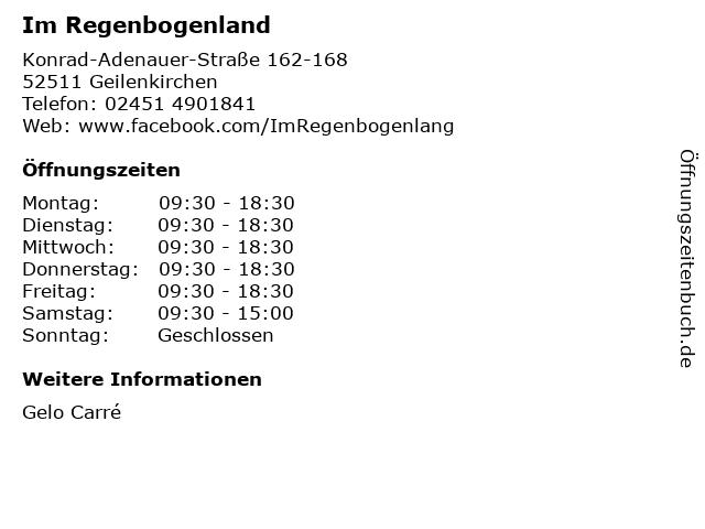 Im Regenbogenland in Geilenkirchen: Adresse und Öffnungszeiten