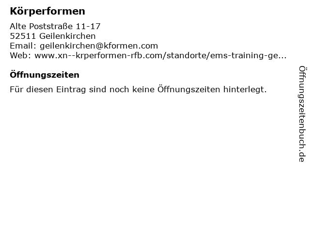 Körperformen in Geilenkirchen: Adresse und Öffnungszeiten