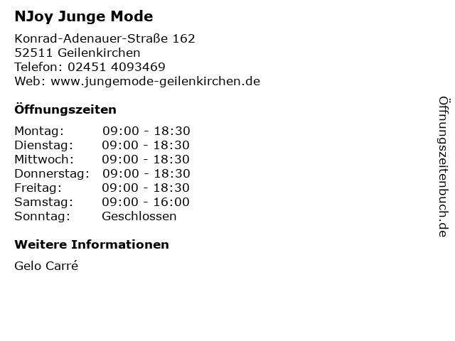 NJoy Junge Mode in Geilenkirchen: Adresse und Öffnungszeiten