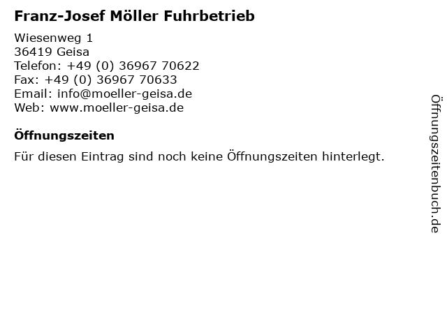 Franz-Josef Möller Fuhrbetrieb in Geisa: Adresse und Öffnungszeiten