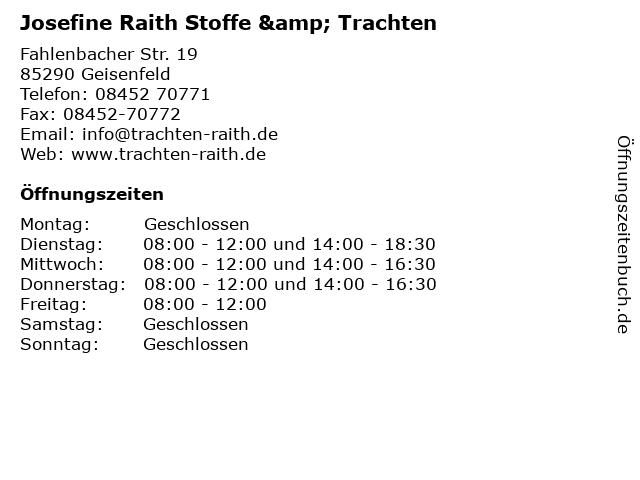 Josefine Raith Stoffe & Trachten in Geisenfeld: Adresse und Öffnungszeiten
