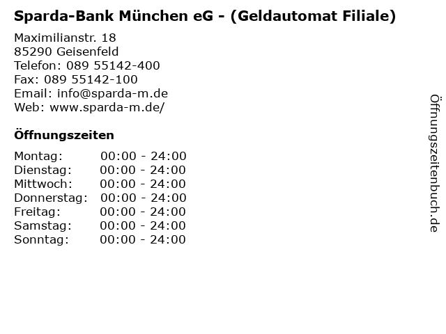 Sparda-Bank München eG - (Geldautomat Filiale) in Geisenfeld: Adresse und Öffnungszeiten