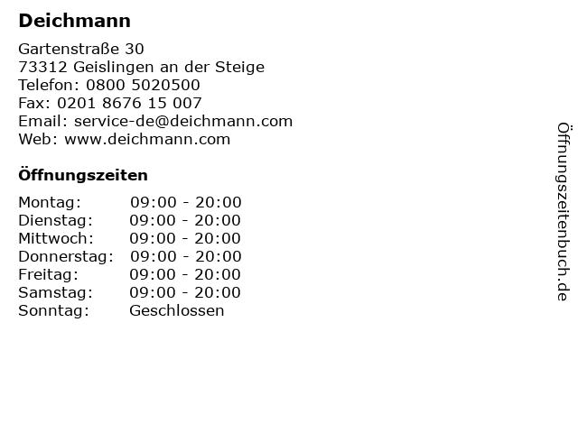Deichmann in Geislingen an der Steige: Adresse und Öffnungszeiten