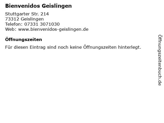 Bienvenidos Geislingen in Geislingen: Adresse und Öffnungszeiten