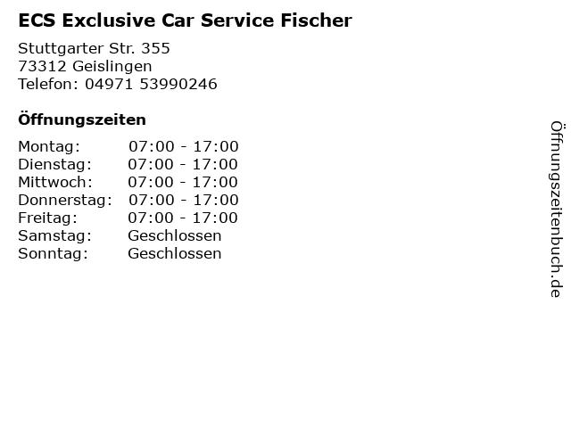 ECS Exclusive Car Service Fischer in Geislingen: Adresse und Öffnungszeiten
