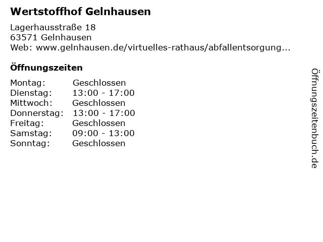 Wertstoffhof Gelnhausen in Gelnhausen: Adresse und Öffnungszeiten