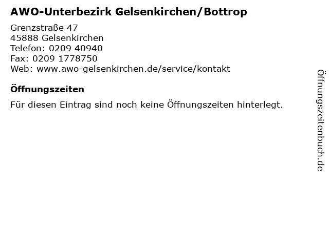 AWO-Unterbezirk Gelsenkirchen/Bottrop in Gelsenkirchen: Adresse und Öffnungszeiten