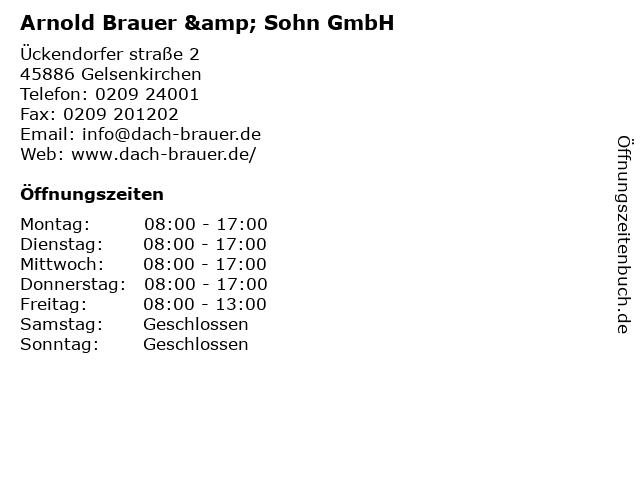 Arnold Brauer & Sohn GmbH in Gelsenkirchen: Adresse und Öffnungszeiten