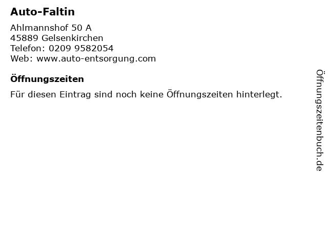 Auto-Faltin in Gelsenkirchen: Adresse und Öffnungszeiten