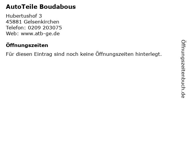 AutoTeile Boudabous in Gelsenkirchen: Adresse und Öffnungszeiten