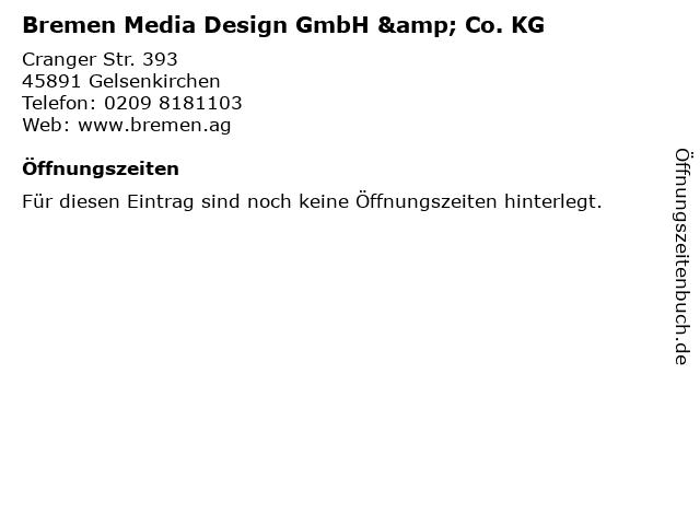 Bremen Media Design GmbH & Co. KG in Gelsenkirchen: Adresse und Öffnungszeiten