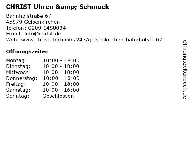 CHRIST Uhren & Schmuck in Gelsenkirchen: Adresse und Öffnungszeiten