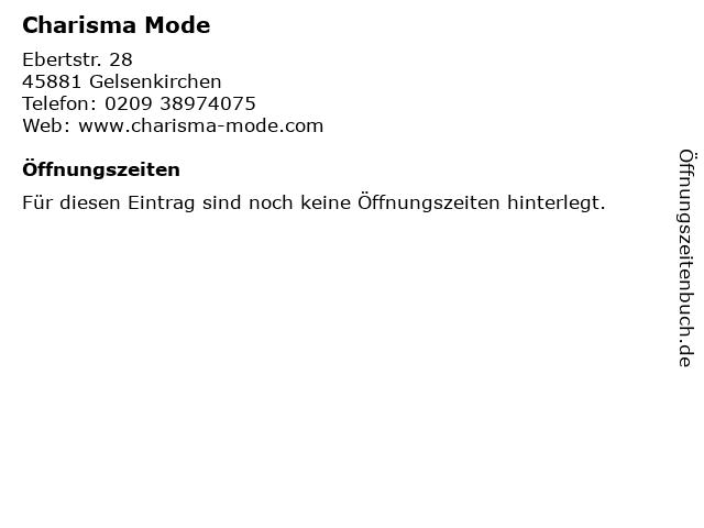 Charisma Mode in Gelsenkirchen: Adresse und Öffnungszeiten