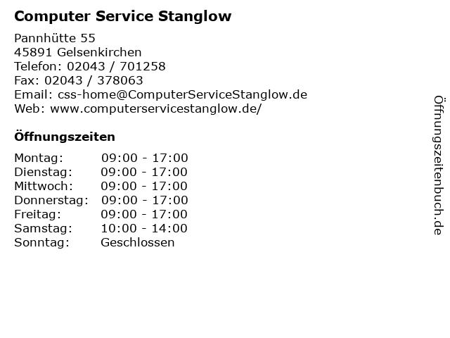 Computer Service Stanglow in Gelsenkirchen: Adresse und Öffnungszeiten