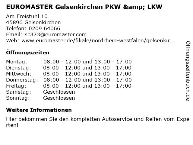 EUROMASTER GmbH in Gelsenkirchen: Adresse und Öffnungszeiten