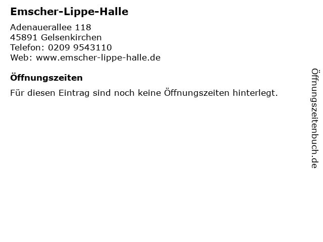 Emscher-Lippe-Halle in Gelsenkirchen: Adresse und Öffnungszeiten