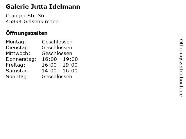 Galerie Jutta Idelmann in Gelsenkirchen: Adresse und Öffnungszeiten