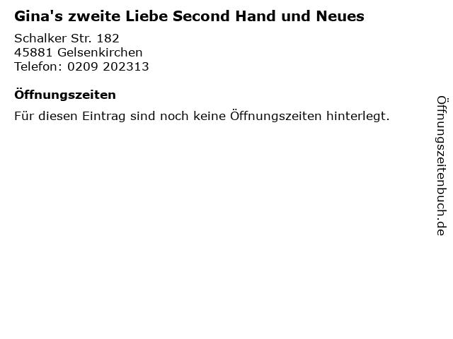 Gina's zweite Liebe Second Hand und Neues in Gelsenkirchen: Adresse und Öffnungszeiten