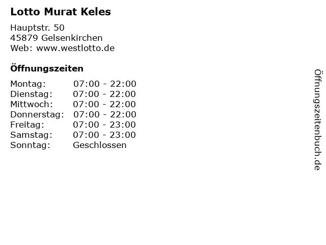 Lotto Murat Keles in Gelsenkirchen: Adresse und Öffnungszeiten