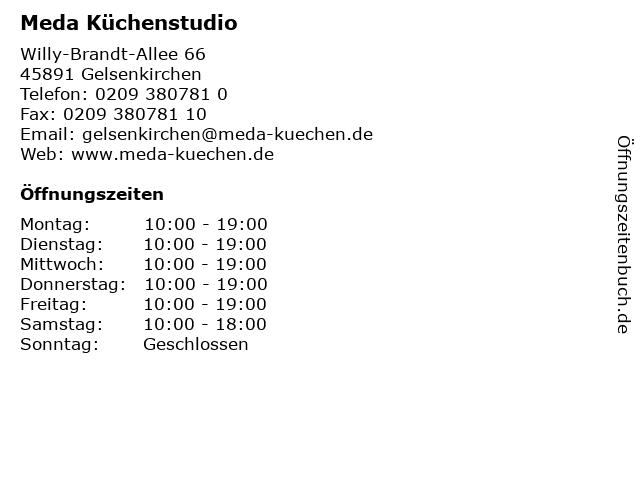 ᐅ Offnungszeiten Meda Kuchenstudio Willy Brandt Allee 66 In