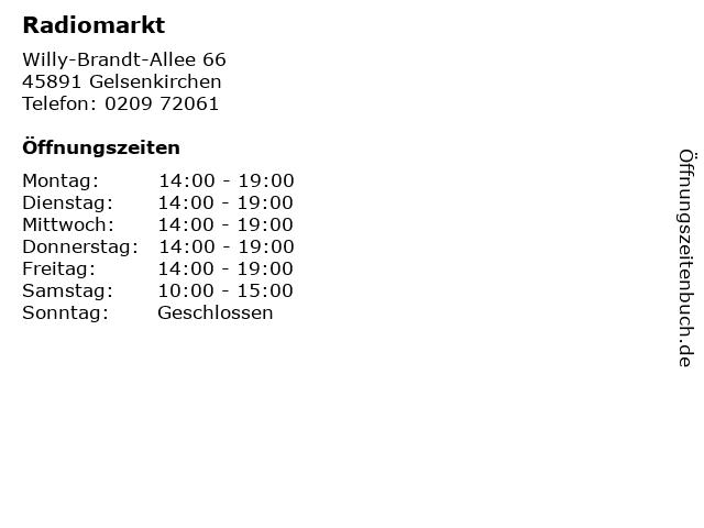 Radiomarkt in Gelsenkirchen: Adresse und Öffnungszeiten