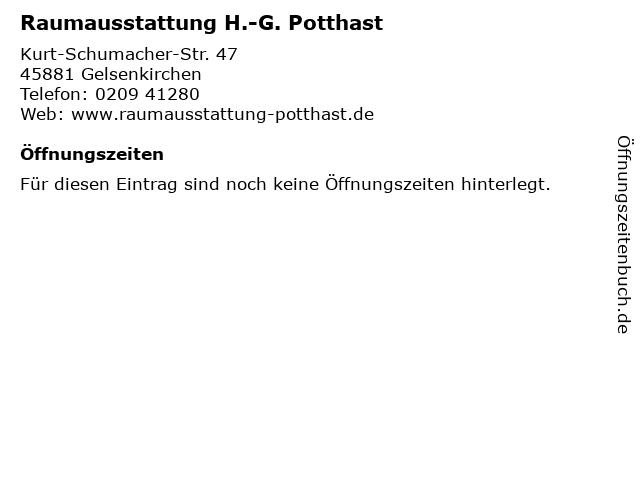 Raumausstattung H.-G. Potthast in Gelsenkirchen: Adresse und Öffnungszeiten