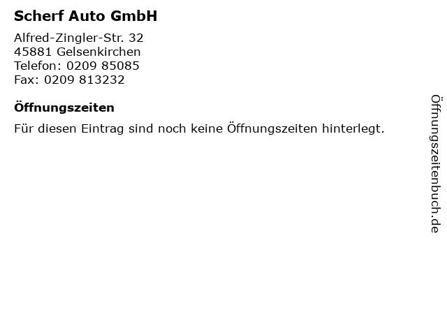 Scherf Auto GmbH in Gelsenkirchen: Adresse und Öffnungszeiten