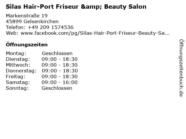 Silas Hair-Port Friseur & Beauty Salon in Gelsenkirchen: Adresse und Öffnungszeiten