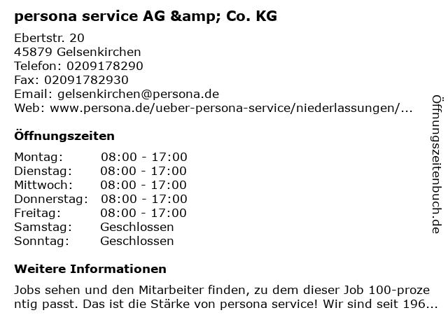 persona service AG & Co. KG in Gelsenkirchen: Adresse und Öffnungszeiten