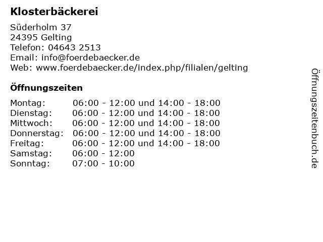 Petersen Bäckerei in Gelting: Adresse und Öffnungszeiten