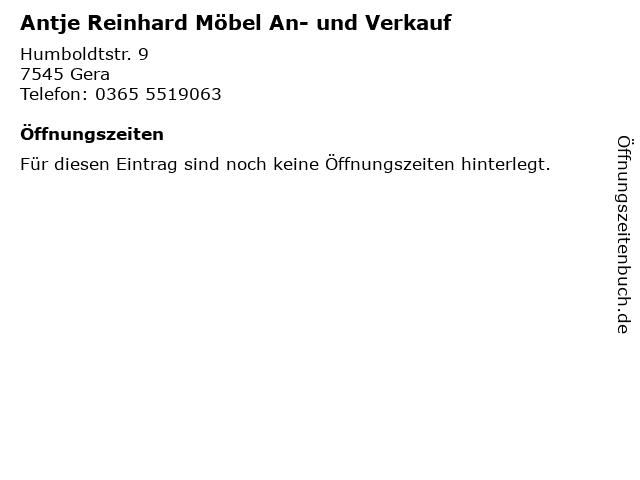 ᐅ Offnungszeiten Antje Reinhard Mobel An Und Verkauf
