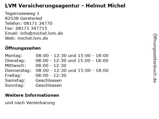 LVM Versicherungsagentur - Helmut Michel in Geretsried: Adresse und Öffnungszeiten