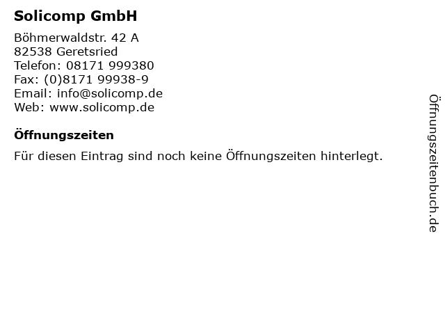 Solicomp GmbH in Geretsried: Adresse und Öffnungszeiten