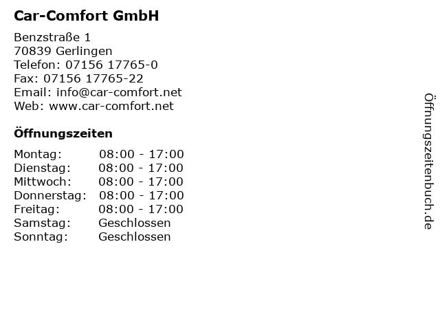 Car-Comfort GmbH in Gerlingen: Adresse und Öffnungszeiten