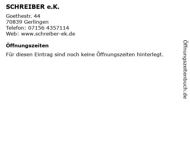 SCHREIBER e.K. in Gerlingen: Adresse und Öffnungszeiten