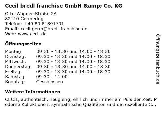 Cecil bredl franchise GmbH & Co. KG in Germering: Adresse und Öffnungszeiten
