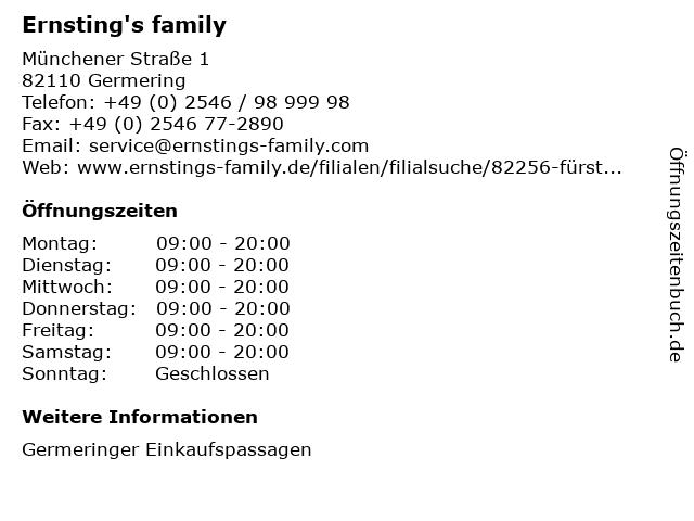 Ernsting's family in Germering: Adresse und Öffnungszeiten