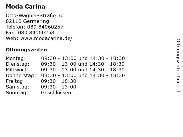 Moda Carina in Germering: Adresse und Öffnungszeiten