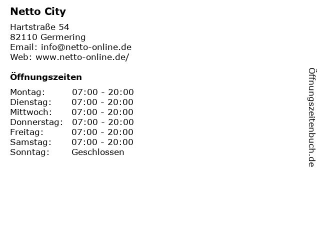Netto City in Germering: Adresse und Öffnungszeiten