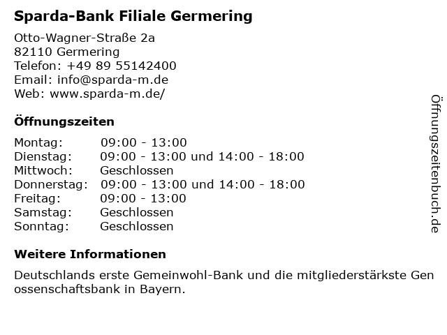 Sparda-Bank Filiale Germering in Germering: Adresse und Öffnungszeiten