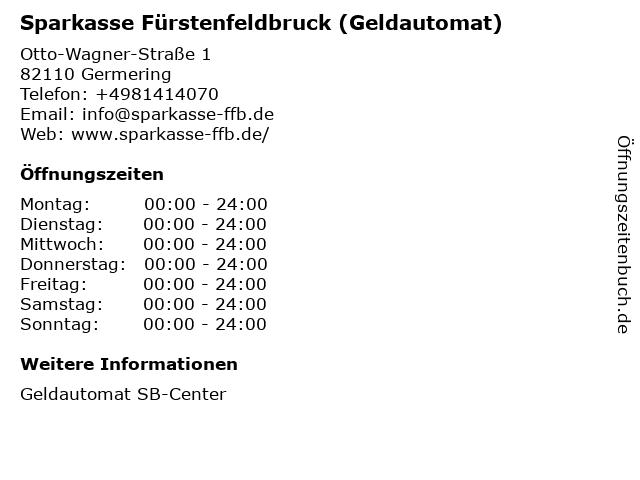 Sparkasse Fürstenfeldbruck - (Geldautomat Filiale) in Germering: Adresse und Öffnungszeiten