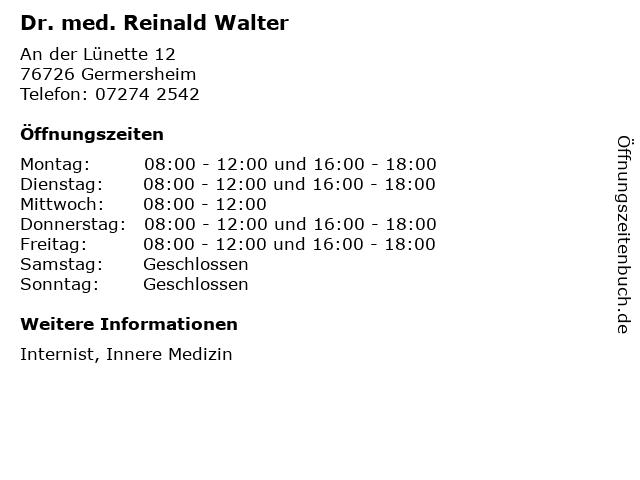 Dr Walter Germersheim